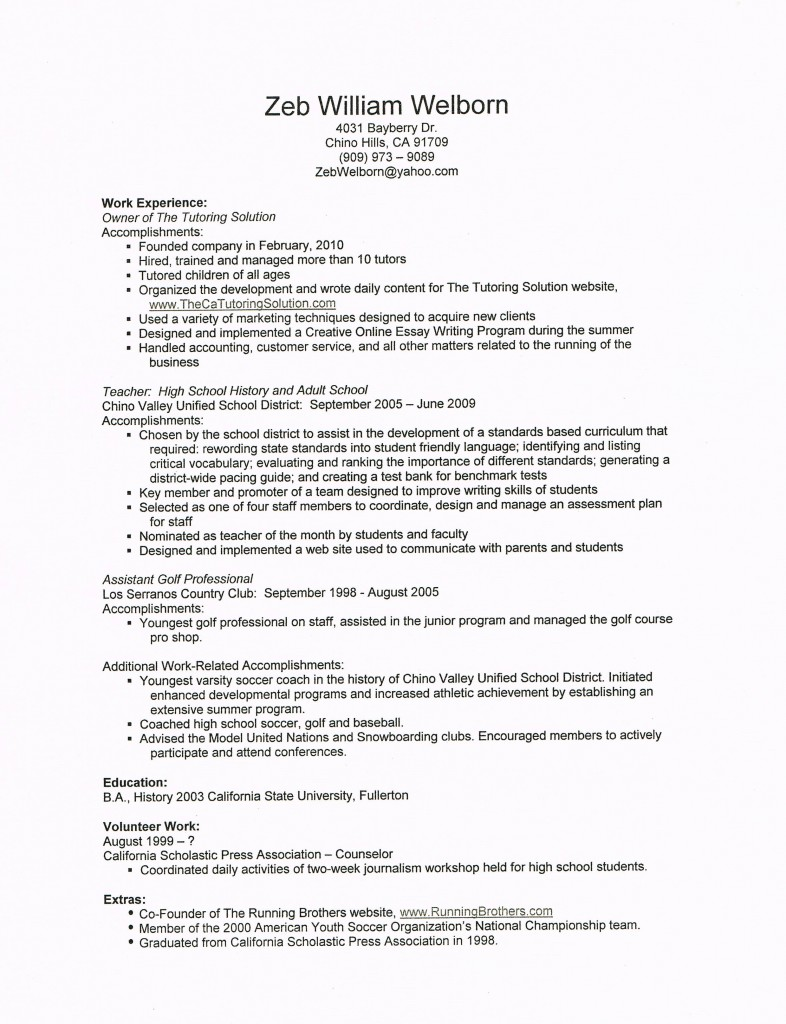 Resume For Student Tutor resume examplehow ...