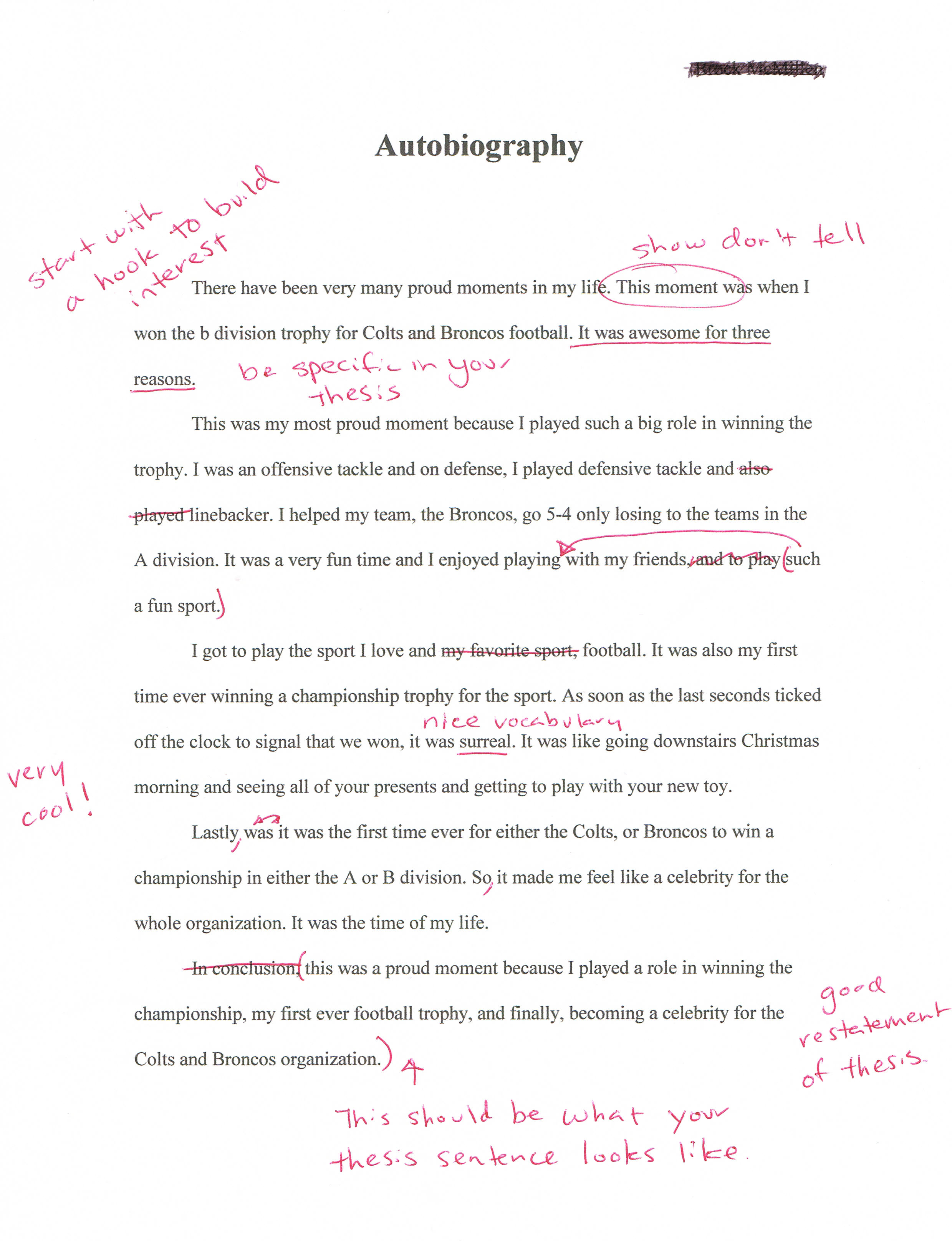 autobiography essay sample autobiography essay outline ...