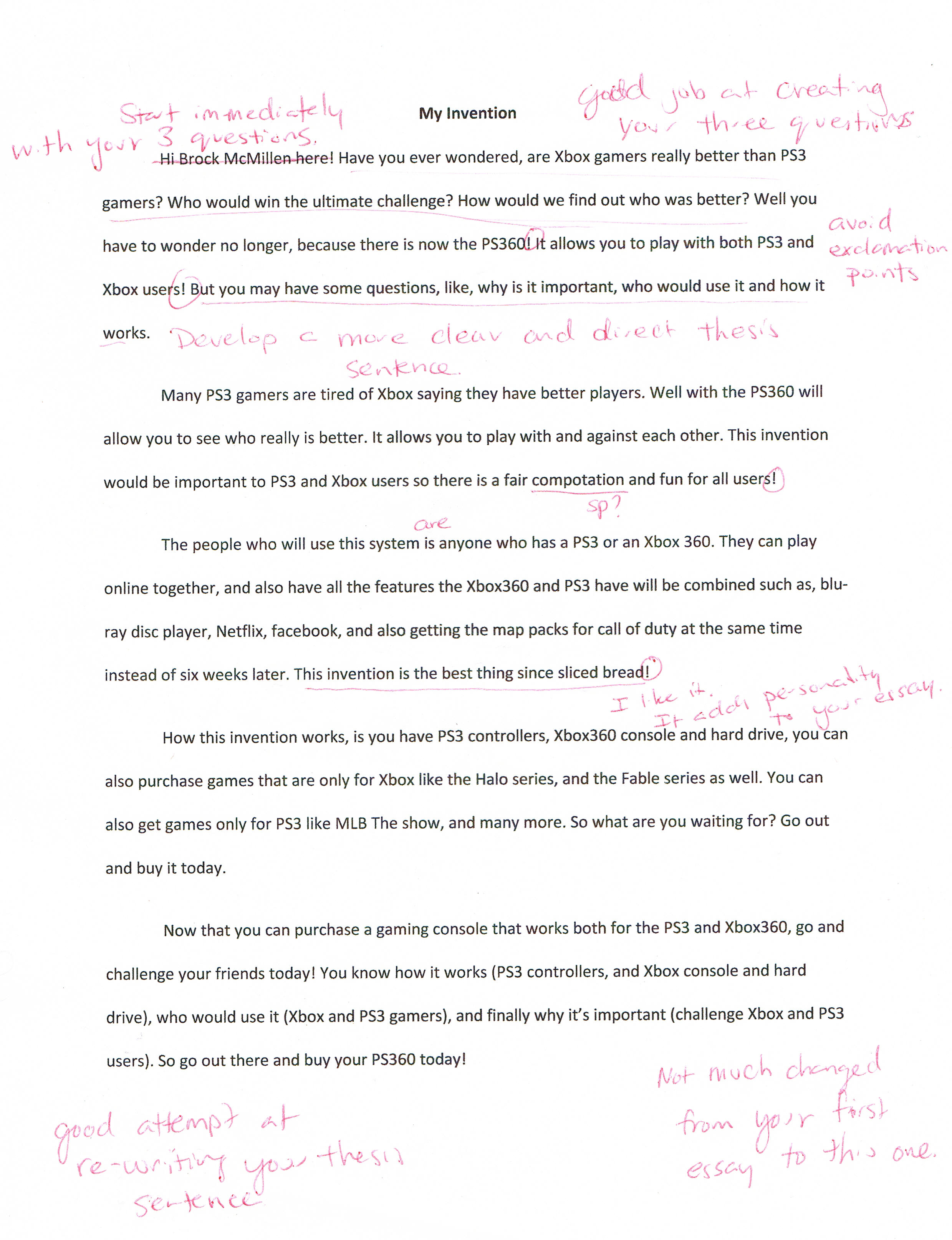 Narrative Essay Example High School
