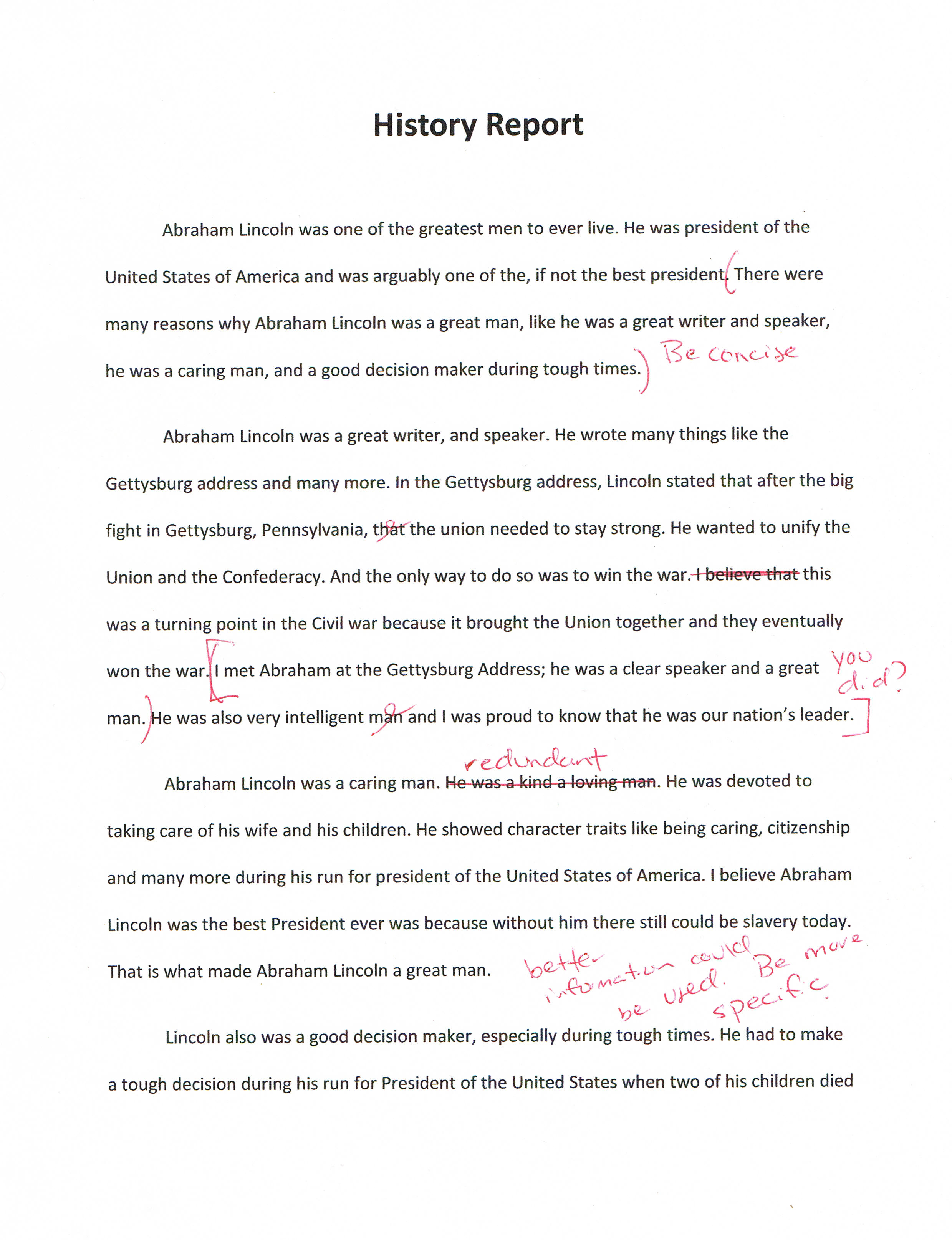 brocks - Essay Draft Example