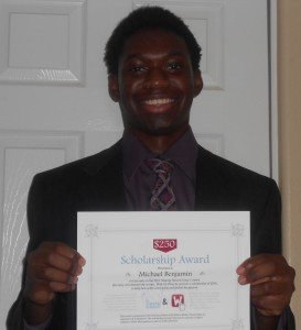 Michael Benjamin - Winner of the $250 Share Your Passion Scholarship